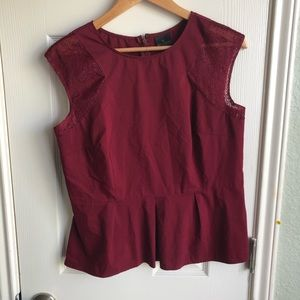 🔴Worthington Maroon Blouse